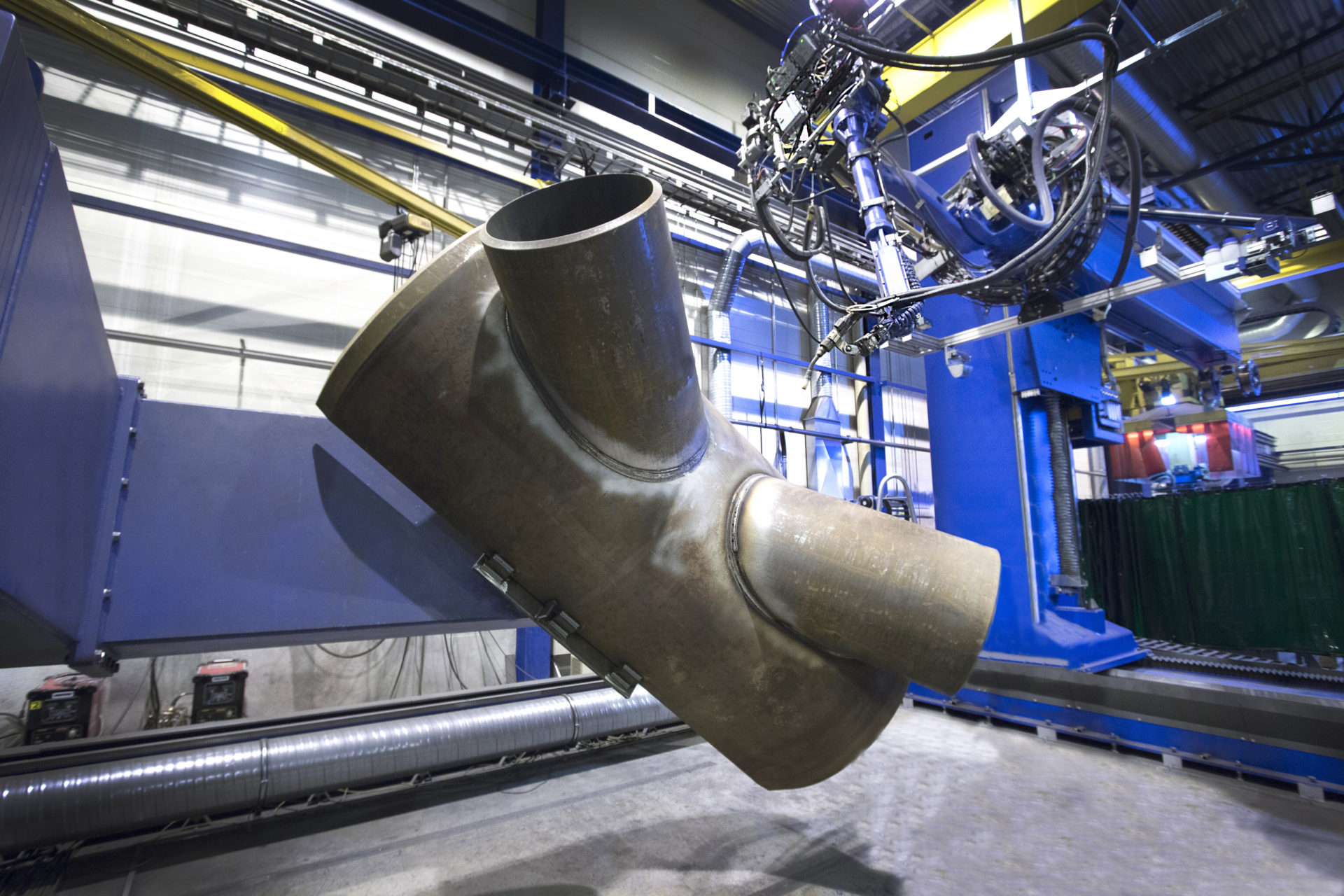 Robotized K-node welding