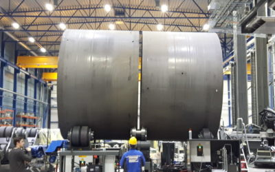 Assembly line: Perfectly rounded tanks, towers and pressure vessels