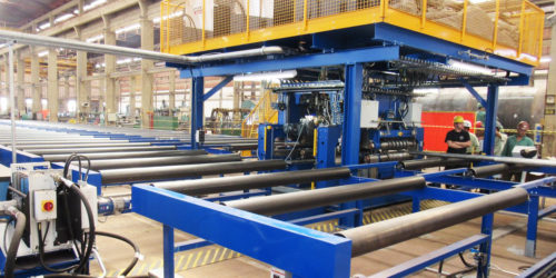 Comprehensive boiler panel welding line to Caldema
