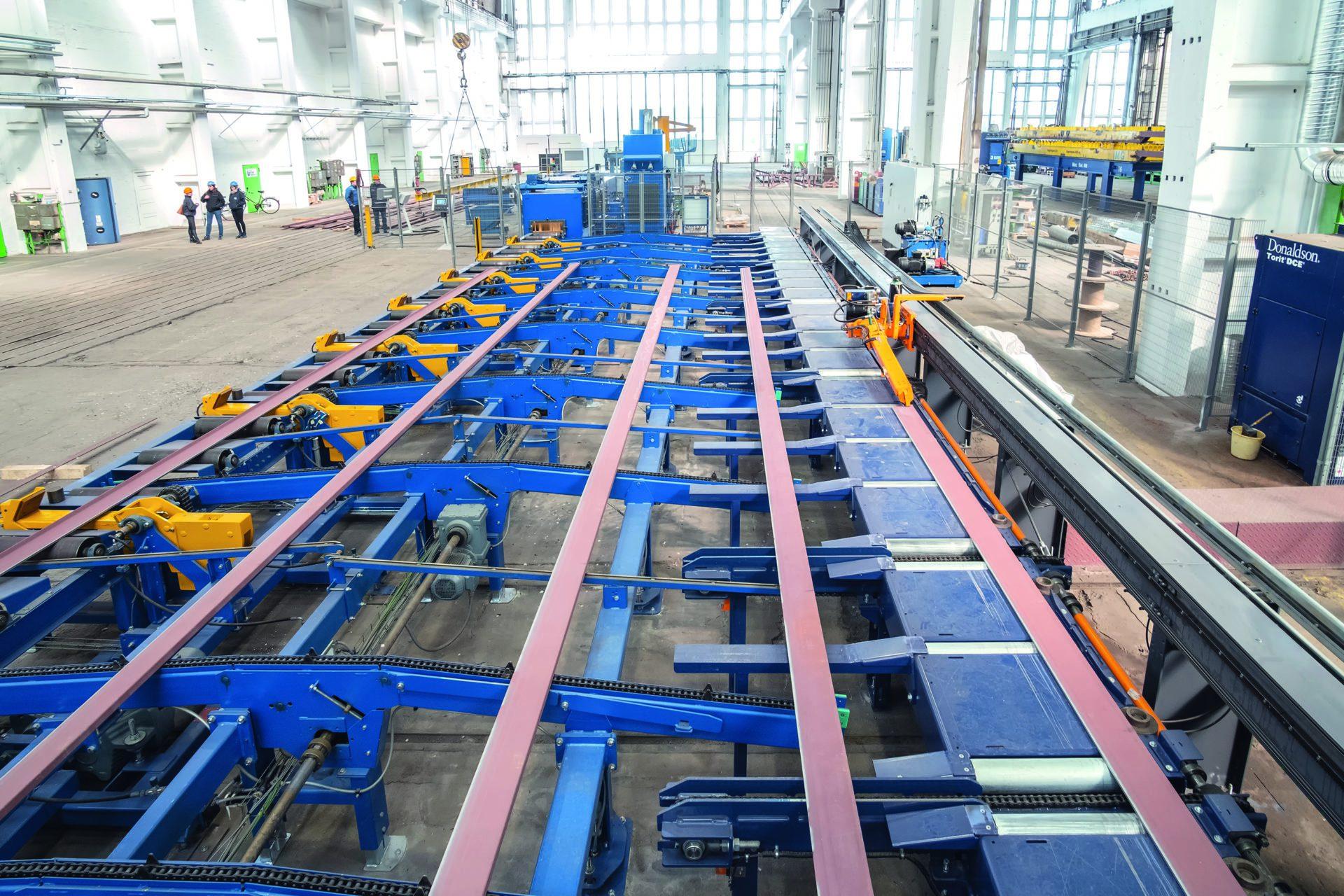 Welding processing line