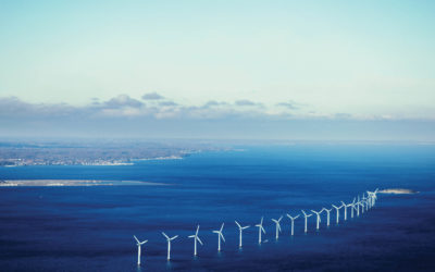 Wind farm in sea